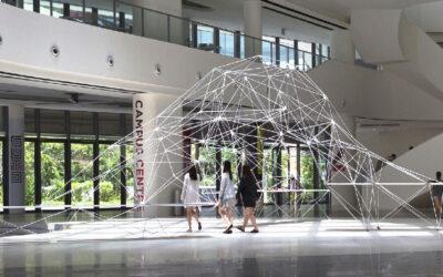 L'impercettibile padiglione poligonale stampato in 3D