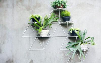 Mensole geometriche e modulari per piante sospese