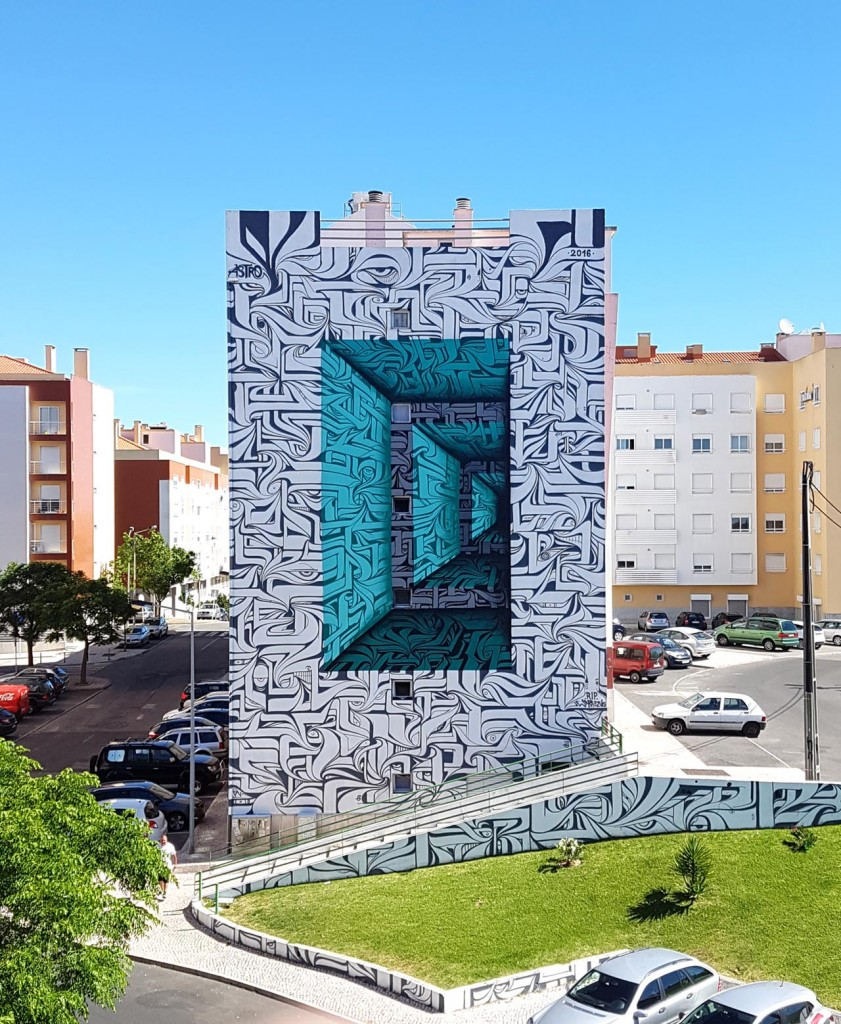 Illusioni ottiche in Murales, Astro