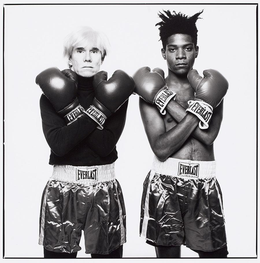 MichaelHalsbandAndy Warhol and Jean-Michel Basquiat1985Gelatin Silver Print