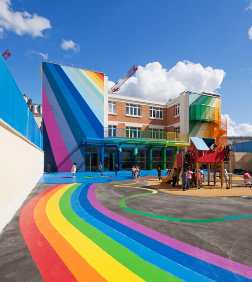 Ench elementary school in Paris, transformed by Palatre & Leclere Architects