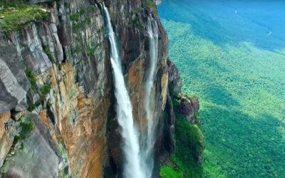 Lo stupendo video della cascata più alta del mondo