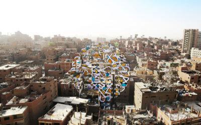 Perception, l'immenso murales al Cairo dell'artista eL Seed