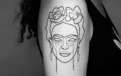 Gli incredibili tatuaggi a linea continua di Mo Ganji