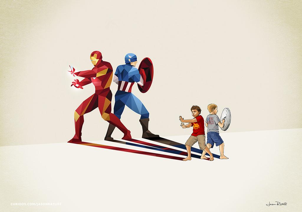 poster supereroi