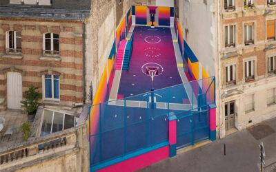Il famoso campo da basket parigino Pigalle Duperré cambia colori