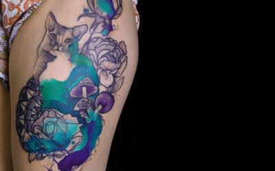 Gli psichedelici animali onirici tatuati da Joanna Swirska
