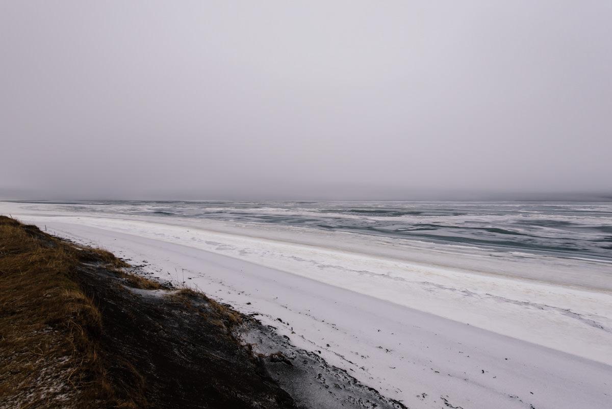 spiagge ghiacciate
