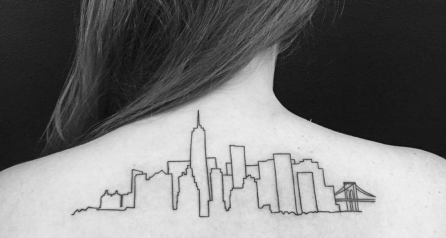 Tatuaggi ispirati dall architettura for New york architettura contemporanea