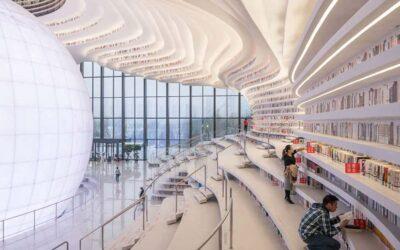 Tianjin Binhai, inaugurata in Cina la fantastica biblioteca firmata MVRDV