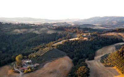 La splendida toscana vista da un drone