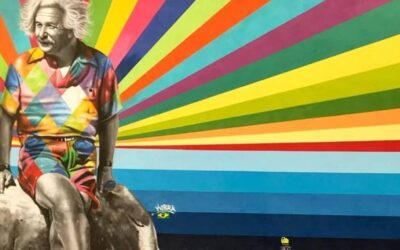 Lo street artist brasiliano Eduardo Kobra