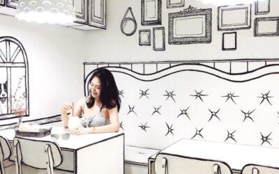 Il suggestivo bar caffè di Seoul dal design bidimensionale