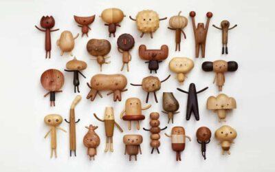 Le piccole creature fantastiche in legno di Yen Jui-Lin