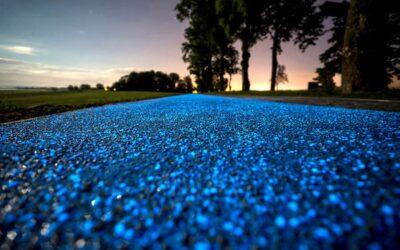 La pista ciclabile in Polonia che si illumina di blu