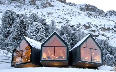Rifugio Oberholz, l'architettura-cannocchiale tra le Dolomiti