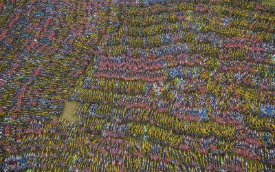 Gli sterminati campi di bici condivise abbandonate