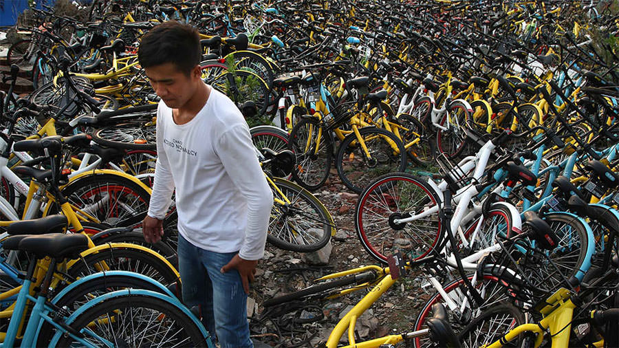 bici condivise abbandonate