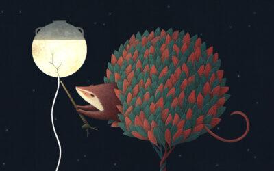 Noche Antigua, il libro per bambini illustrato da David Alvarez
