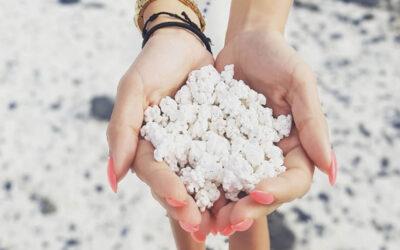 La spiaggia che è fatta di Pop Corn
