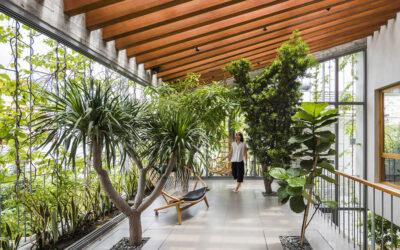 La casa in cui il verde è un primario elemento di progetto