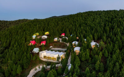 Un campeggio dal design contemporaneo in Corea del Sud