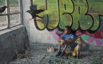 Animali e bambini insieme nel mondo fatiscente di Kevin Peterson