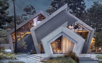 La casa pentagonale ispirata alle montagne di Karina Wiciak