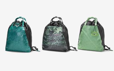 Una vivace e totalmente riciclata borsa multiuso