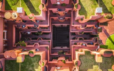 Tutte le simmetrie di Barcellona nelle sue fotografie aeree