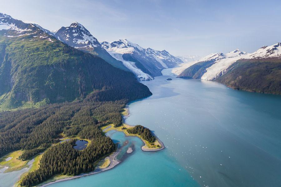 Harriman Fjord Alaska Aerial Photography