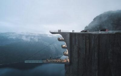 L'impressionante Boutique Hotel sospeso su una scogliera in Norvegia