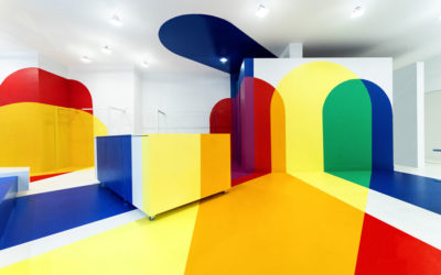 Le intersezioni di colori del Homecore Store, Studio Malka Architecture