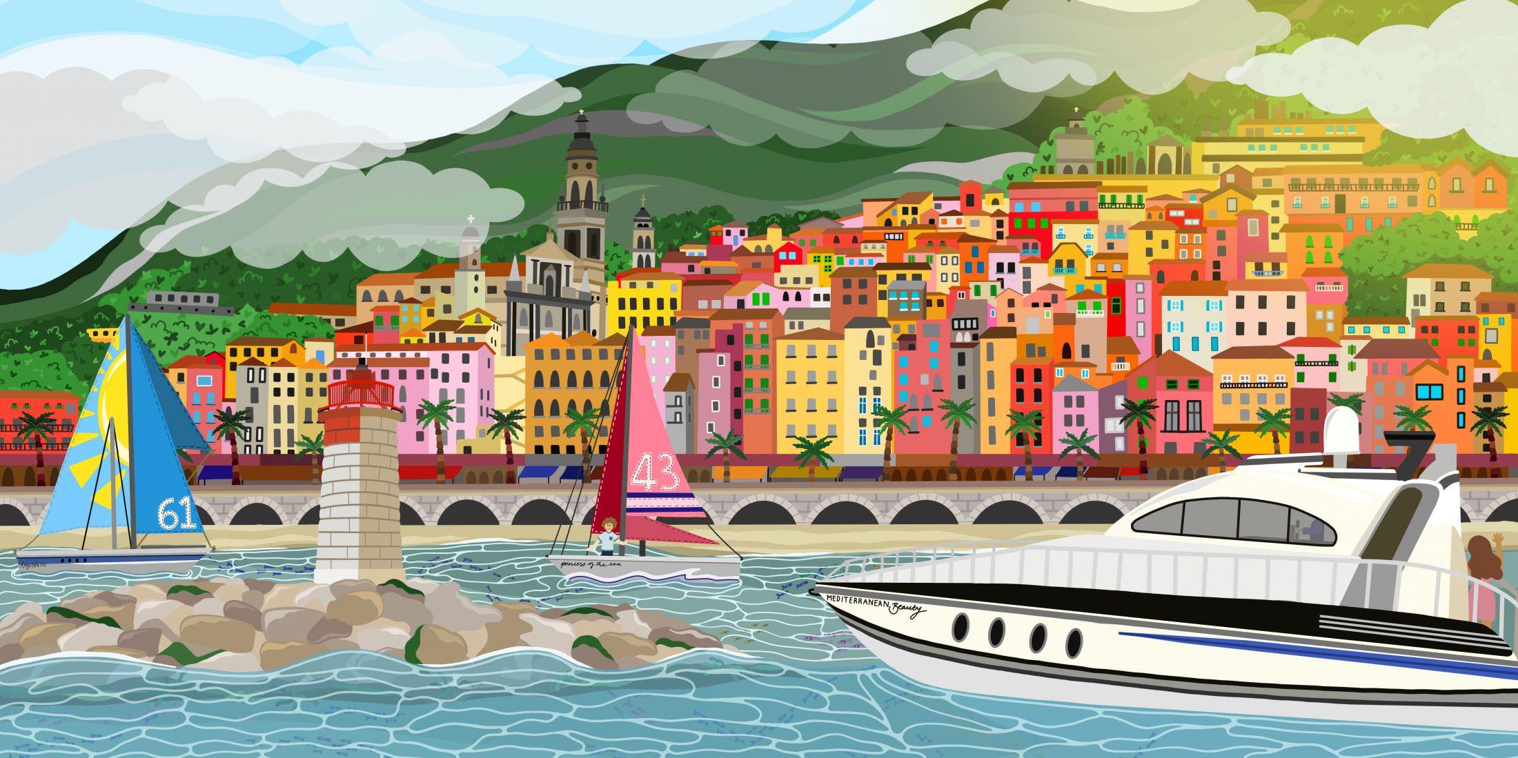 mediterraneo illustrato