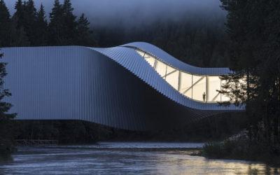 The Twist, il ponte museo progettato da Bjarke Ingels Group in Norvegia