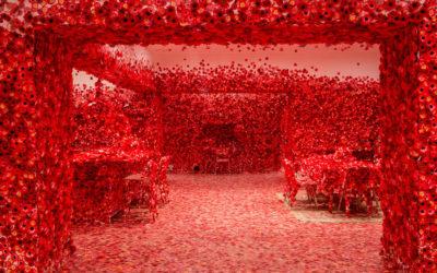 Flower Obsession, l'installazione interattiva di Yayoi Kusama