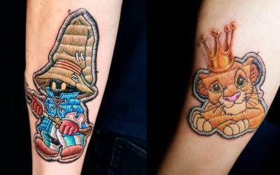 I tatuaggi che sembrano delle vere toppe di stoffa