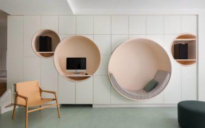 Le nicchie circolari di un appartamento francese
