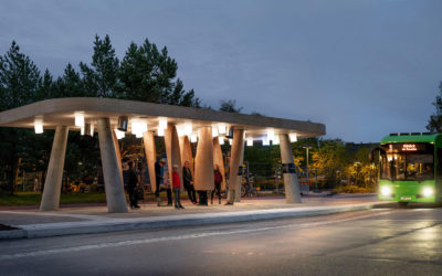 La fermata dell'autobus intelligente progettata da Rombout Frieling in Svezia