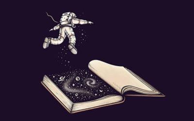 L'astronauta solitario nelle illustrazioni di Enel Dika
