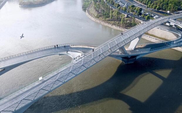 Il ponte infinito di Chengdu, in Cina