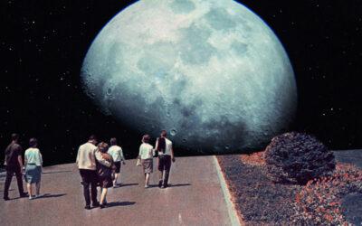 """Le """"cartoline nostalgiche dal futuro"""" del duo Frank Moth"""