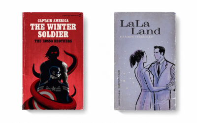 Poster di film trasformati in copertine di libri vintage
