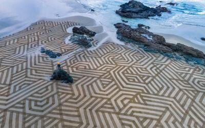 La Sand Art di Andres Amador sulle spiagge californiane