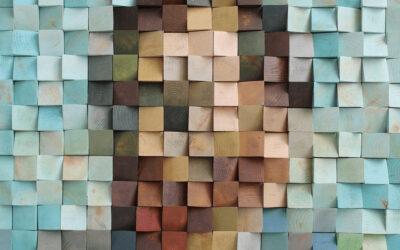L'autoritratto di Van Gogh fatto con pixel di legno