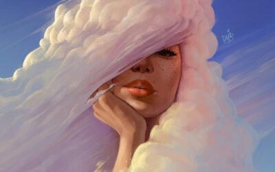 Avere la testa tra le nuvole, le illustrazioni di David Belliveau