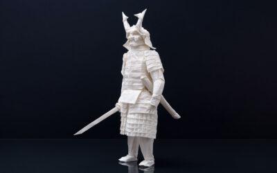 L'origami di un Samurai fatto con un singolo foglio di carta