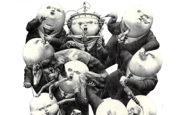 Le illustrazioni allegoriche di Pierre Coubeau