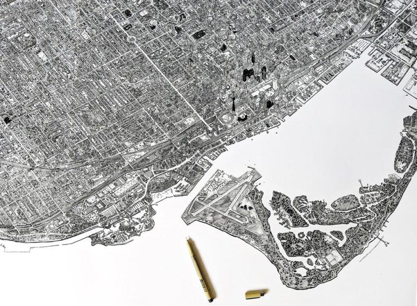 Toronto disegnata a mano