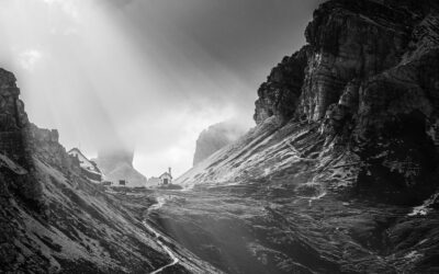 Tutta la bellezza delle Dolomiti in bianco e nero